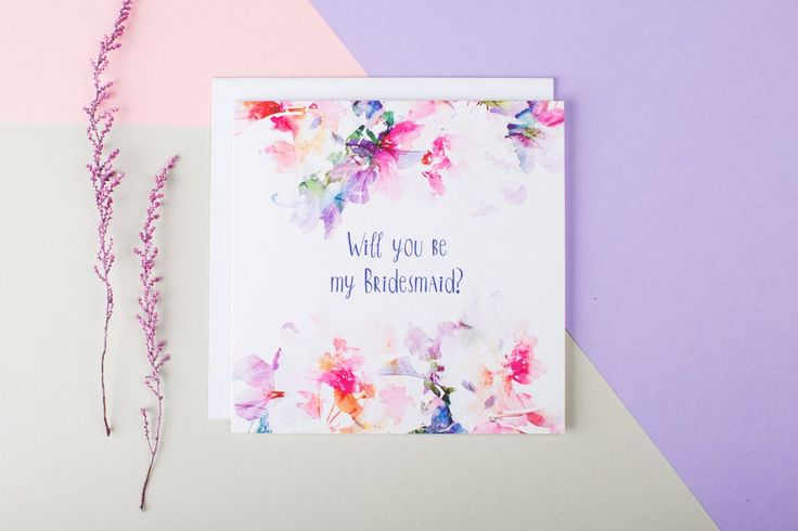 Ask that all important question with this beautiful wedding stationery - a perfect way of asking your bridesmaids for their support on your wedding day.