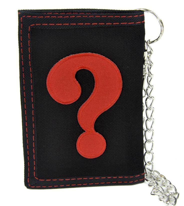 ? Question Mark Tri-fold Wallet with Chain Alternative Clothing  #gamer #comiccon #hat #horrormovie #halloween