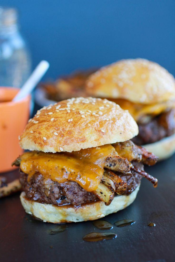 French Fry Bourbon Burgers | halfbakedharvest.com
