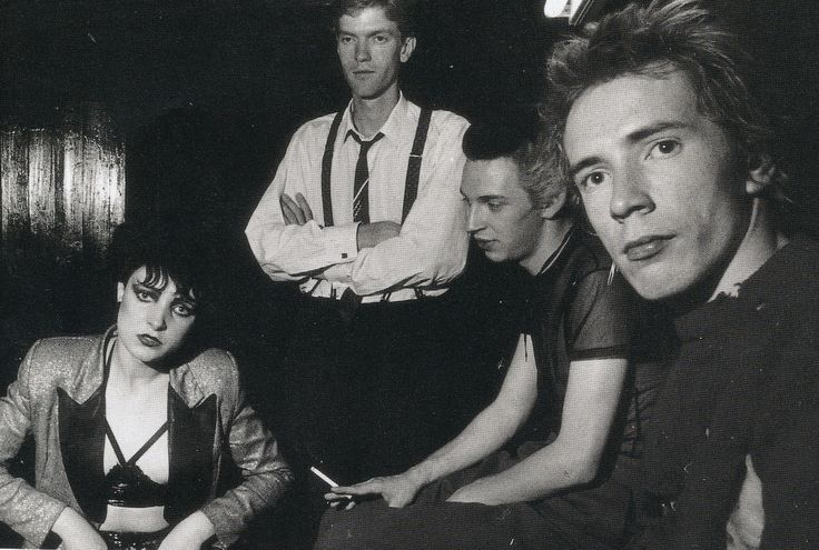 Siouxsie Sioux, John Ingham, Steven Severin and Johnny Rotten