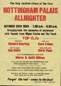 Nottingham Palais Allnighter Advert.