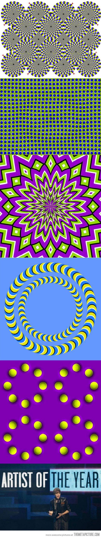 Photos illusion car moving optical illusion spectacular optical - Interesting Optical Illusions