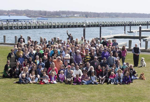 Thank you for showing up, Greenport... More than 100 residents and employees of Greenport met up at Mitchell Park Sunday for a cover photo shoot for The Suffolk Times.