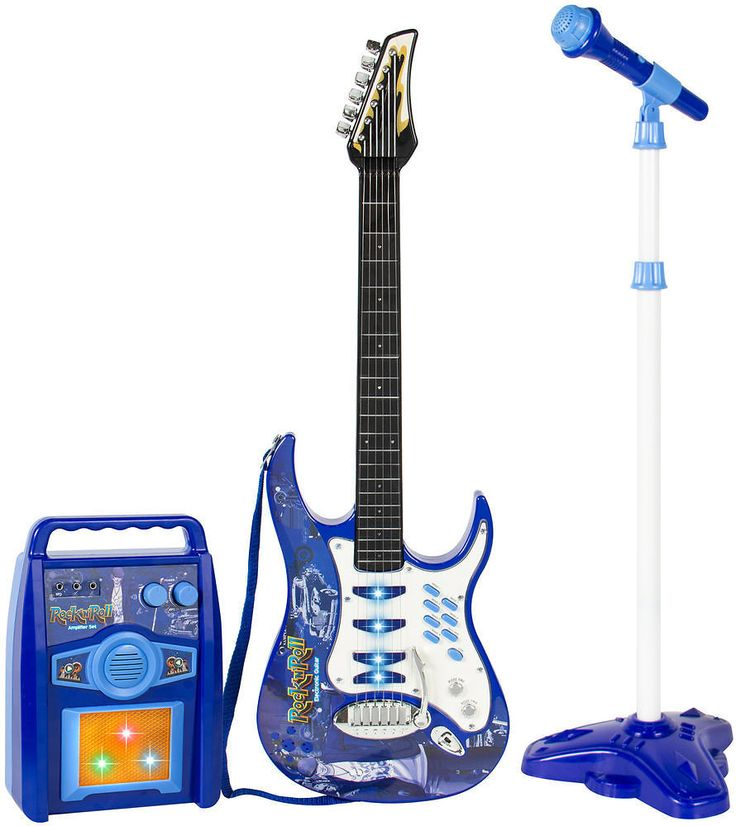 Best Choice Products Kids Electric Guitar Set MP3 Player Microphone Amp Blue