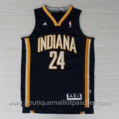 maillot nba pas cher Indiana Pacers George #24 Bleu marine nouveaux tissu 22,99€