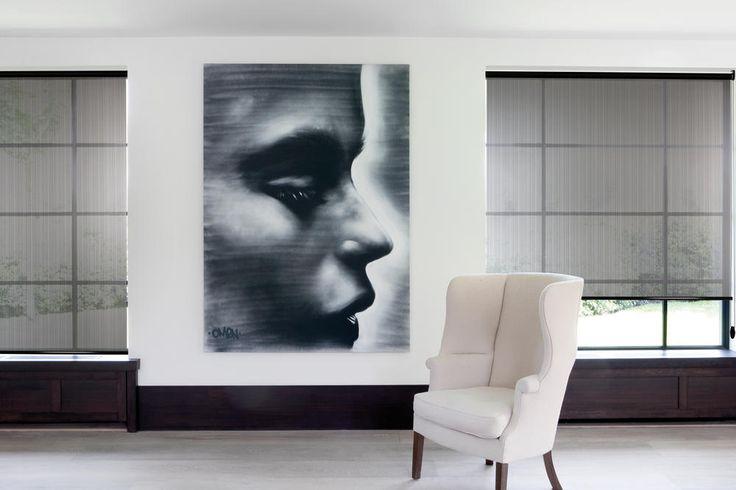 Copahome raamdecoratie rolgordijn transparant grijs / La décoration de fenêtre. Store enrouleurs gris
