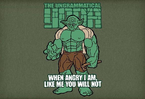 The Ungrammatical Yoda T-Shirt
