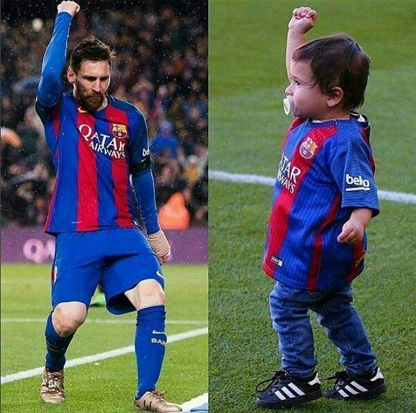 Like Father..like Son. #Messi #JrMessi #jr