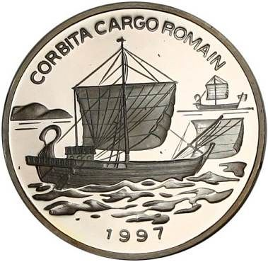 Congo 1000 francs 1997. Ancient Roman ship.