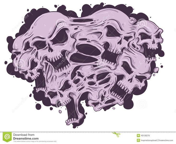 Melting Skulls Stock Vector Image 40130276 Skull