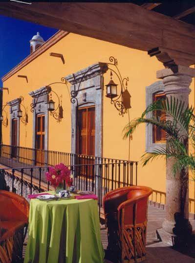 retrofitted ex-hacienda into Hotel Hacienda de los Santos en Alamos, Sonora, Mexico