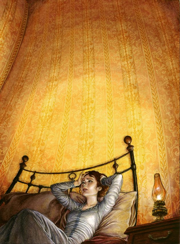 """It is a dull yet lurid orange in some places, a sickly sulphur tint in others."" The narrator describes her distaste for the yellow wallpaper in her room. The Yellow Wallpaper III by ~hyperphagia on deviantART"