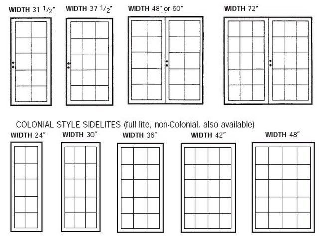 pretty standard french door size on this standard size chart is to be used as a size reference only standard french door size - Patio Door Sizes Standard