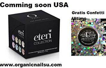 Eteri Collection Organic Nails Free Confetti Exagono Holograma Review