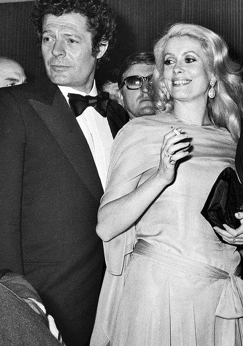 #Marcello Mastroianni and #Catherine Deneuve.