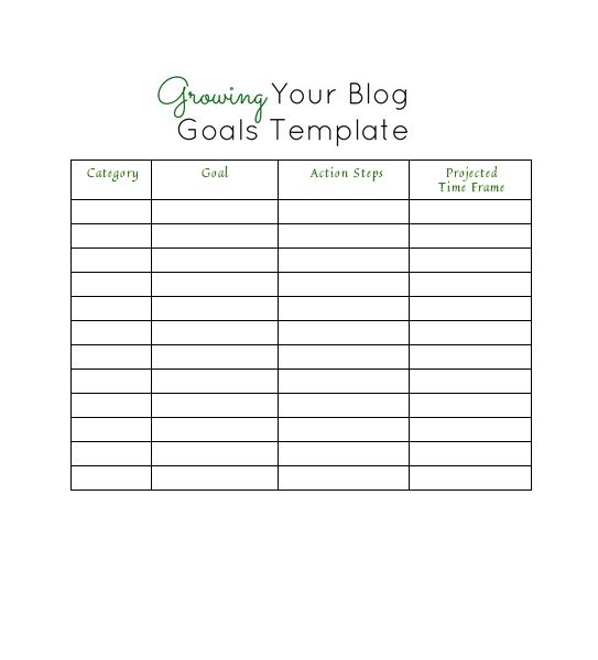 best 25 goals template ideas on pinterest short term goals vision board template and bullet. Black Bedroom Furniture Sets. Home Design Ideas