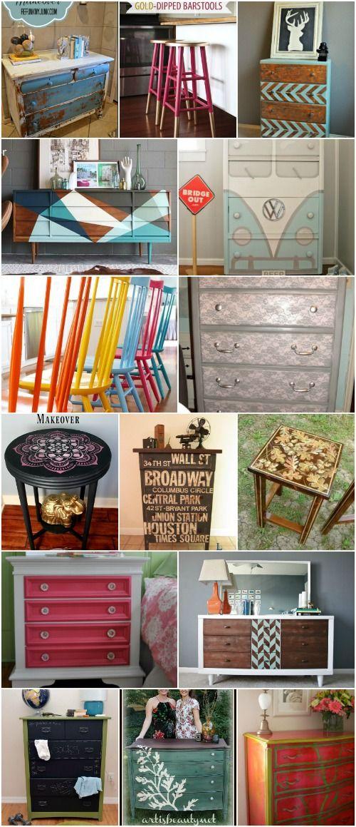 25 Beautiful Furniture Makeover Ideas Using Paint via @vanessacrafting
