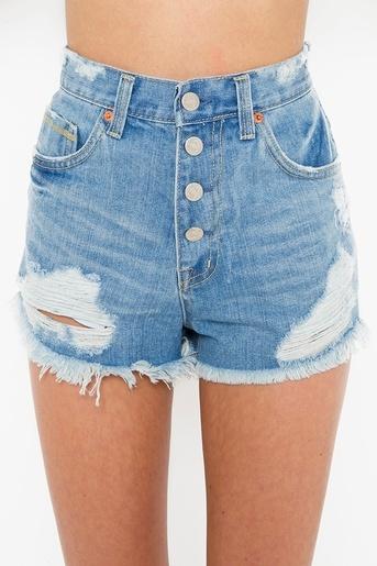 Shredded Cutoff Shorts