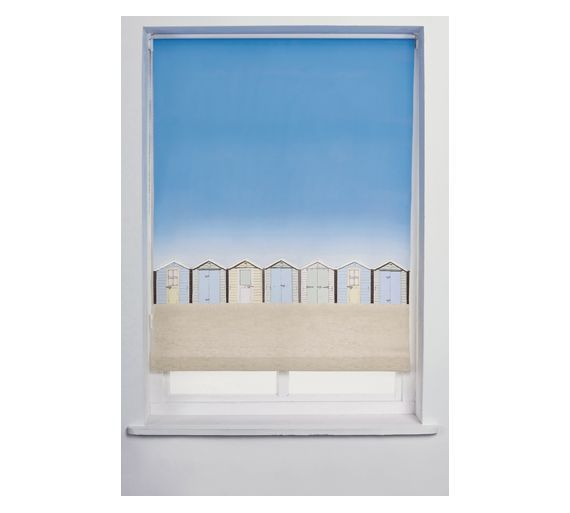 Buy Collection Beach Hut Roller Blind - 4ft - Multicoloured at Argos.co.uk, visit Argos.co.uk to shop online for Blinds, Blinds, curtains and accessories, Home furnishings, Home and garden