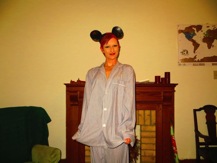 columbia in mickey ears and pajamas | Columbia Rocky Horror.