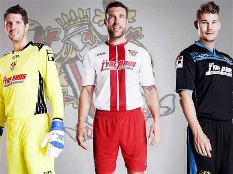 Stevenage FC Fila Home and Away Shirts for 2013/14