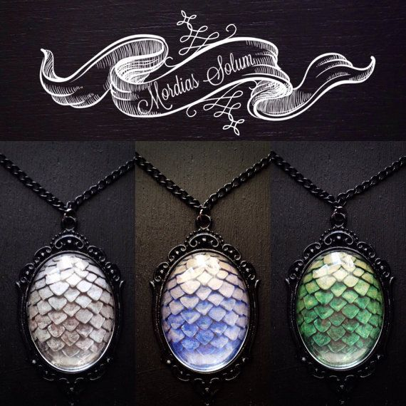 Dragon Egg Chain Necklace Fantasy Jewelry Game Of by MordiasSolum