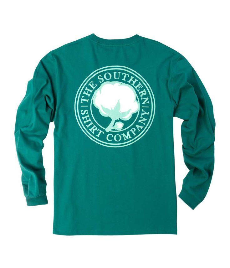 Southern Shirt Company Signature Logo Long Sleeve T-Shirt in Bayou