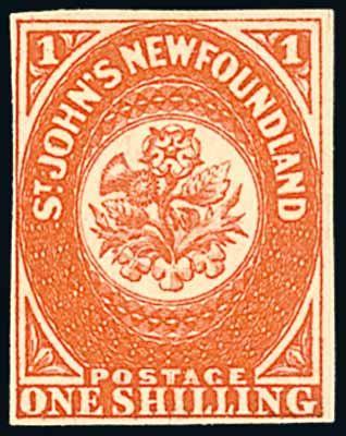vintage stamp  newfoundland canada stamp rose  thistle. shamrock
