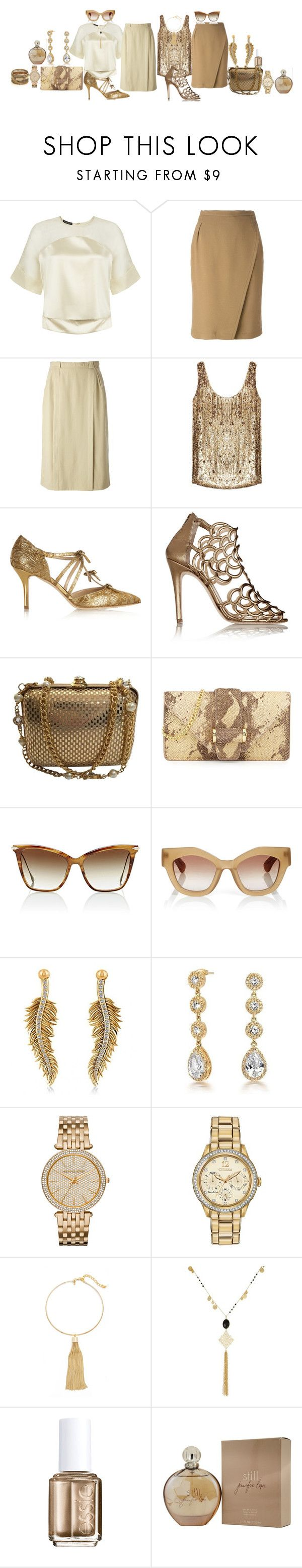 """Double your trouble"" by blujay1126 ❤ liked on Polyvore featuring Vielma London, Nina Ricci, CÉLINE, ZoÃ« Jordan, Oscar de la Renta, St. John, Ivanka Trump, Dita, Jonathan Saunders and Allurez"