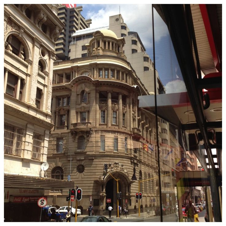 View of the historic #StandardBank building from the Rea Vaya stop #Johannesburg