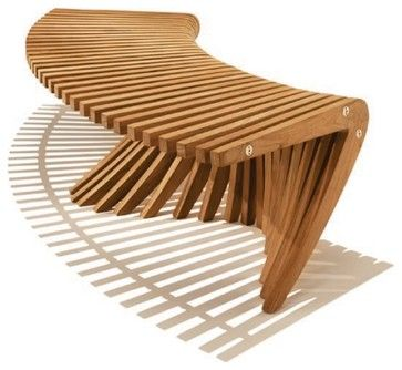 Windsong Curved Backless Bench   Contemporary   Outdoor Stools And Benches    Tokens Of Living | Landscape | Pinterest | Outdoor Stools, Stools And  House