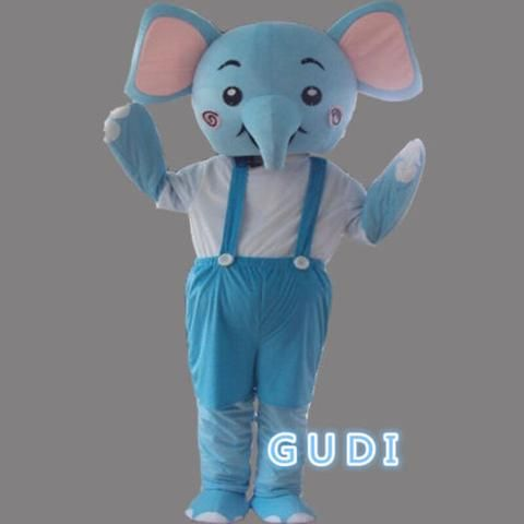 Lovely elephant cartoon mascot costumes Halloween party adult size Free Shipping