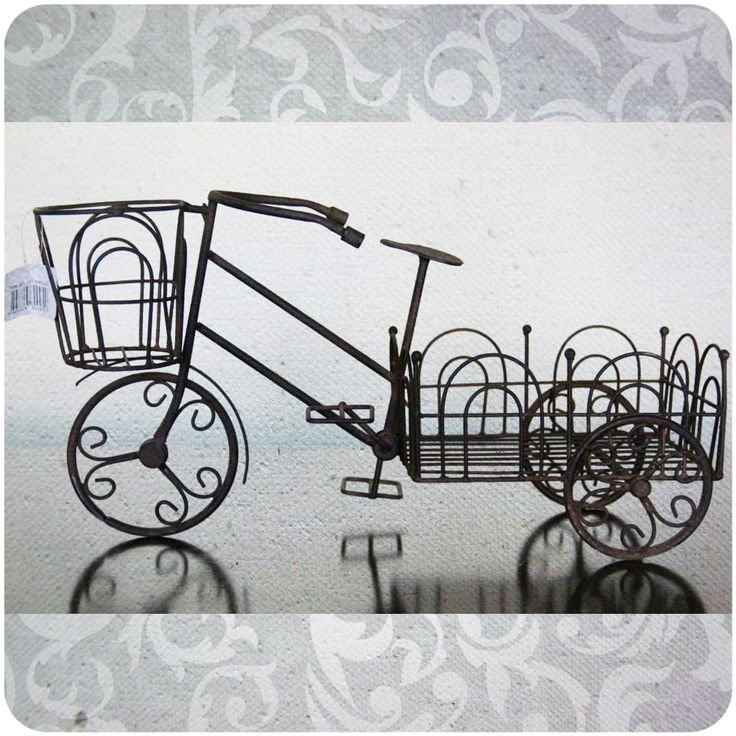 Porta macetas bicicleta Código Fi07-2 Alto 26 cm / Ancho 21 cm / Largo 50 cm $32.000