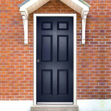 The construction is a one piece HDF solid core with a polyvynil skin, the frame and inner door surface will be white #safedoor #directdoors