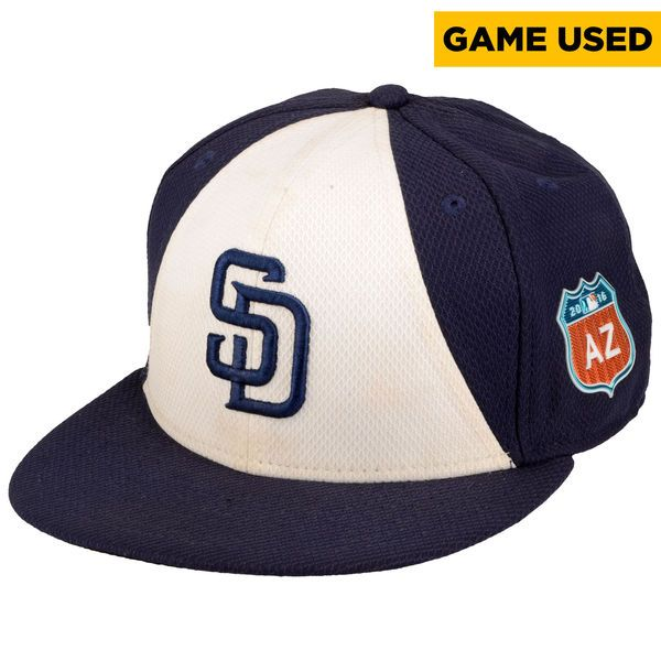 Andy Green San Diego Padres Fanatics Authentic Game-Used #14 White and Navy Cap From Spring Training 2016 - $74.99