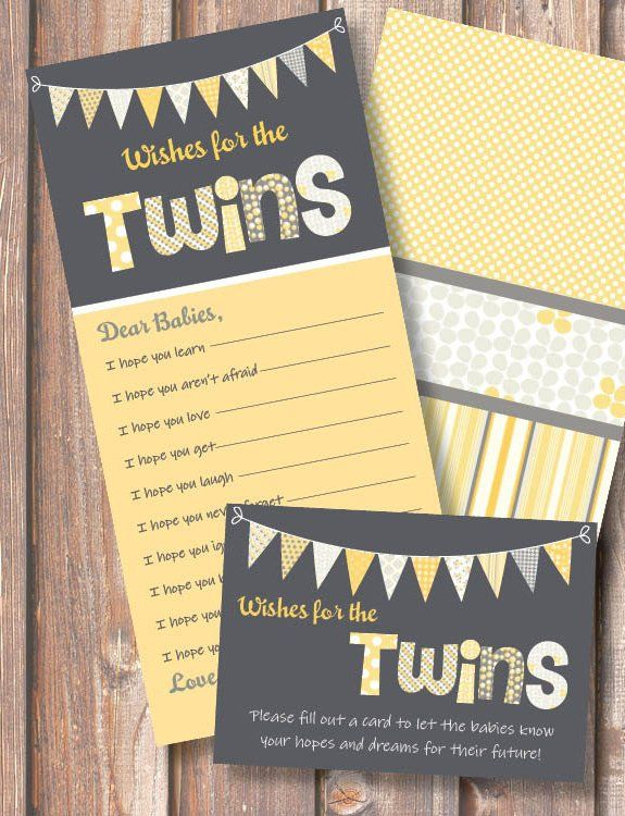 Wishes For the Twins Shower Game