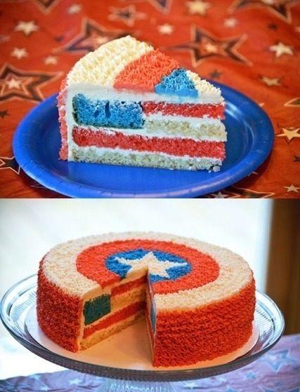 Awesome Captian America cake :)