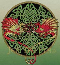 celtic artwork of wales | Celtic Art Studio : Symbol : SYMBOLS : Keltic Dragons