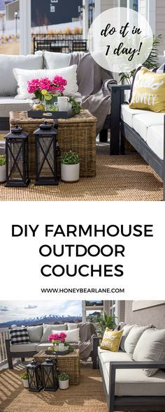 Want to hang out or entertain outside? Build this DIY outdoor furniture in one day and you can enjoy the warmth of the summer! #bhglivebetter #ad /bhglivebetter/