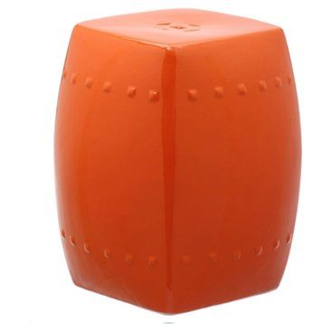 Check Out This Item At One Kings Lane! Freja Garden Stool, Red Orange