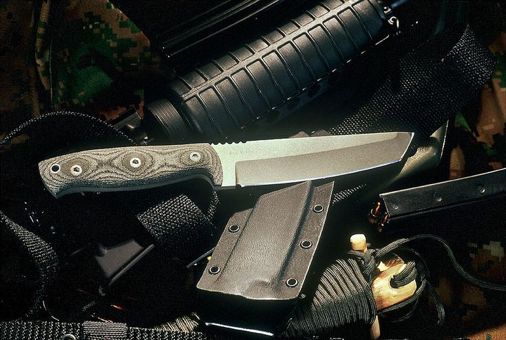 """SURVIVOR    The 5 3/8"""" long 3/16"""" Thick, Tanto Style Blade Makes. An All-Around Dependable Utility Knife. Overall Length 9 7/8""""."""