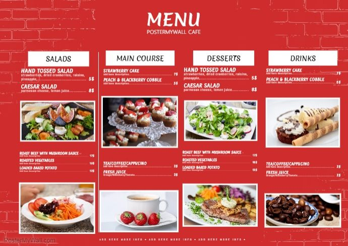 Best free restaurant flyer templates images on