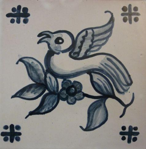 Handpainted Portuguese Tiles by Roger Metcalfe. 15x15cm. www.estudio-destra.com