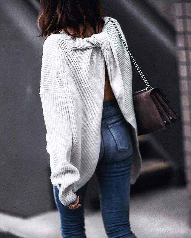 {new outfit post} slouchy sweater with a twist with @chicwish. See the entire look at FashionedChic.com (direct link in bio). #chicwish http://liketk.it/2pQBb @liketoknow.it #liketkit