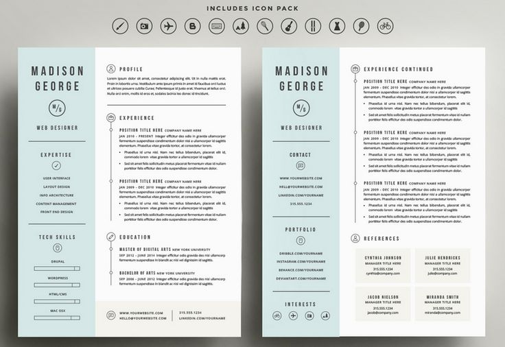 Marvelous Example Resume, Experience And Education For Two Page Resume .