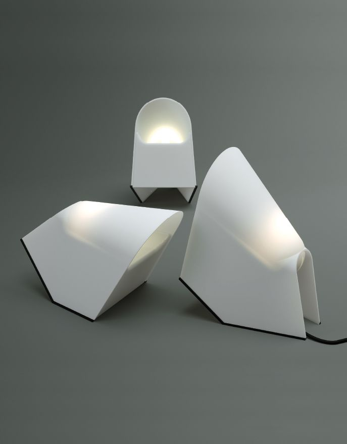 Cini Boeri; Plastic and Rubber 'Lucetta' Table/Wall Light for Stilnovo, 1974.