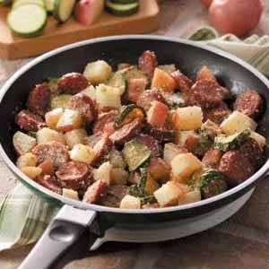 Sausage Potato Supper #Recipe -substitute sausage, butter, and cheese