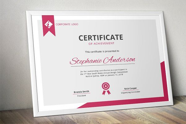 Modern MS Word certificate template - Stationery Certificate - ms word certificate template