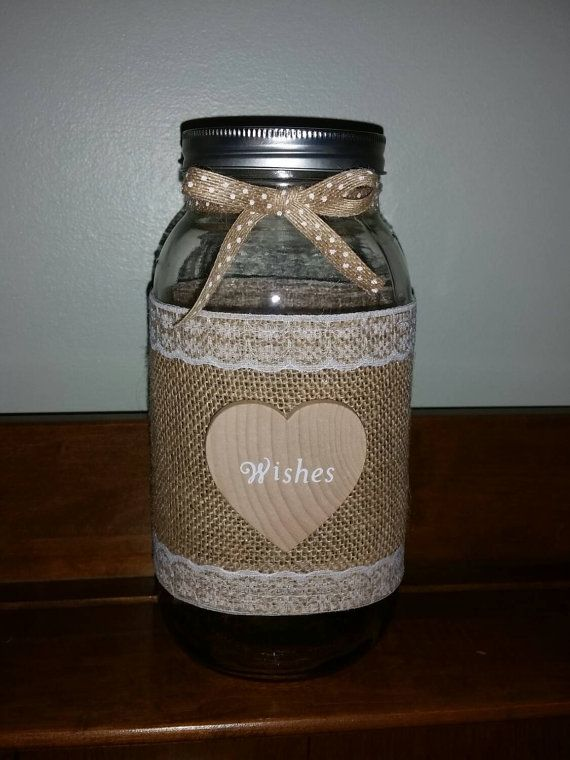 Hey, I found this really awesome Etsy listing at https://www.etsy.com/listing/233753485/burlap-lace-mason-jar-centerpiece