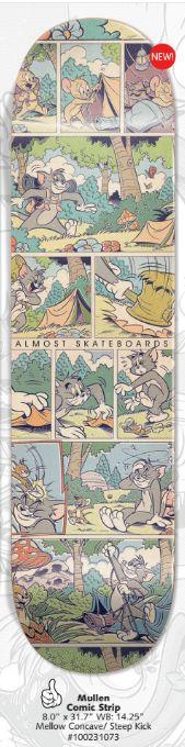 Almost Rodney Mullen Tom & Jerry Comic Strip Skateboard Deck